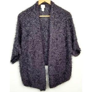 3/$25 Chicos size 3 (XL/16) purple silver sweater